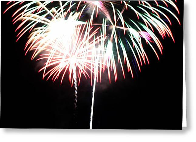 4th of July Fireworks 4 Greeting Card by Howard Tenke