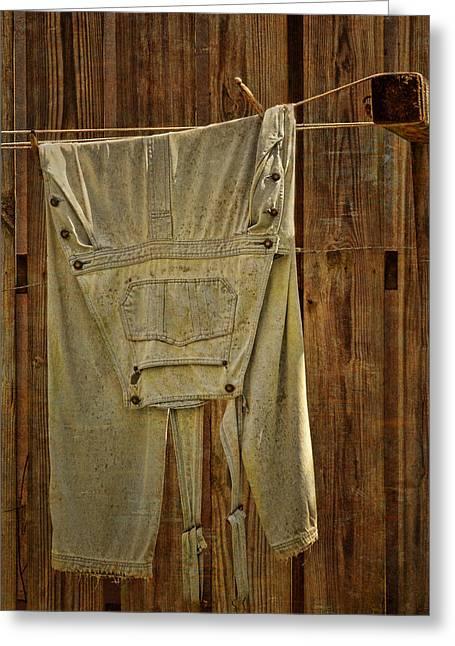 Overalls Drying Greeting Card by Nikolyn McDonald
