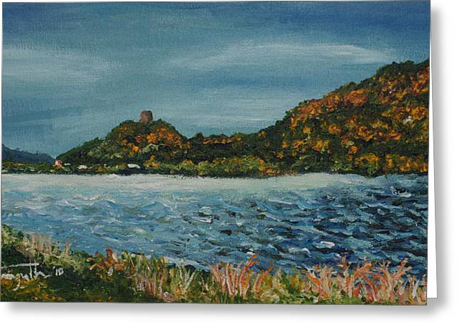 Monica Veraguth Greeting Cards - Overcast at Lake Winona Greeting Card by Monica Veraguth