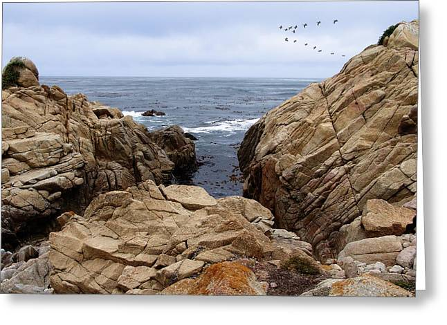 Scenic Drive Photographs Greeting Cards - Overcast Day At Pebble Beach Greeting Card by Glenn McCarthy Art and Photography