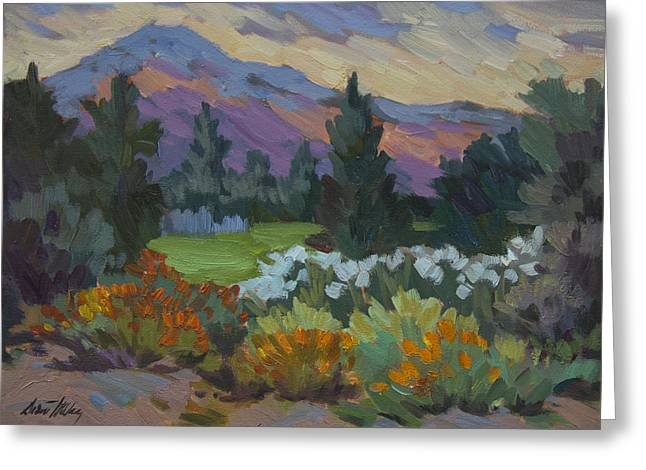 Barbara Paintings Greeting Cards - Overcast Light in Santa Barbara Greeting Card by Diane McClary