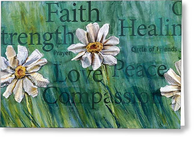 Religious Mixed Media Greeting Cards - Overcome Greeting Card by Lisa Fiedler Jaworski