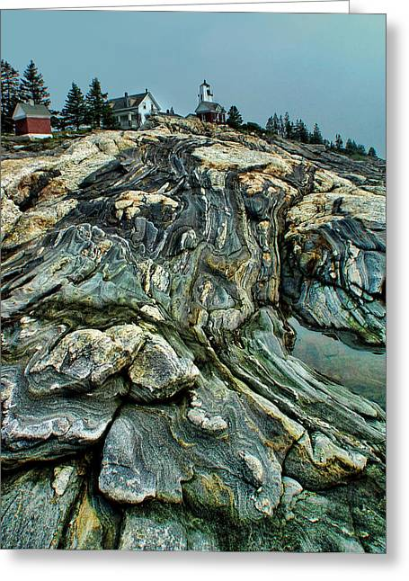 Coastal Maine Greeting Cards - Overflow Greeting Card by Carolyn Fletcher