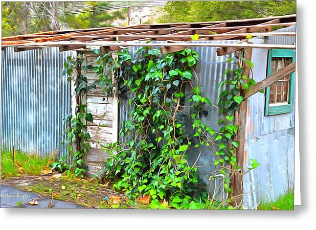 Overgrown Greeting Cards - Overgrown And Abandoned  Greeting Card by Barbara Snyder