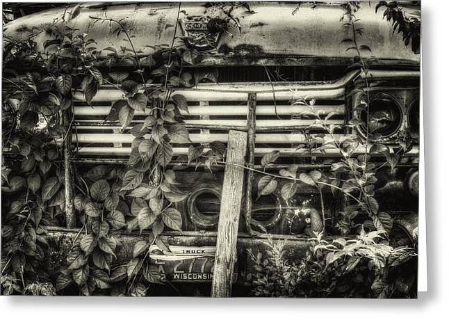 Overgrown Greeting Cards - Overgrown Ford Truck Greeting Card by Thomas Young