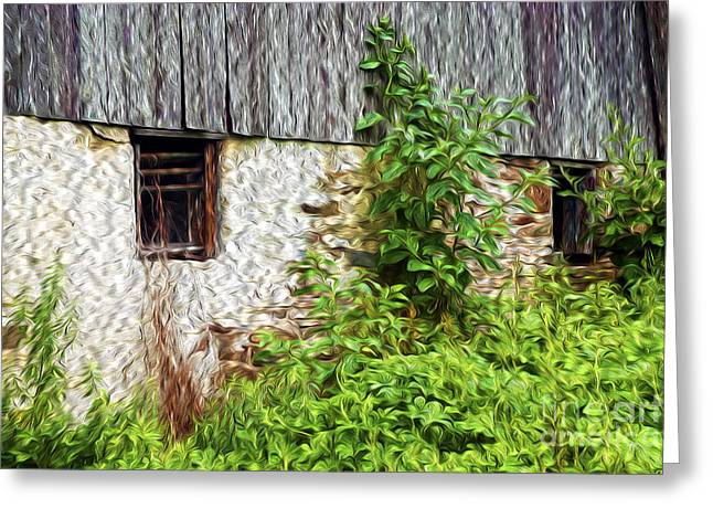 Pa Barns Greeting Cards - Overgrown with History Greeting Card by Paul W Faust -  Impressions of Light