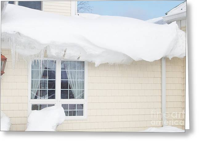 Overhanging Snow Greeting Cards - Overhang Greeting Card by William Norton