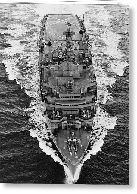 Overhead View Of Uss Nashville Lpd-13 Greeting Card by Stocktrek Images
