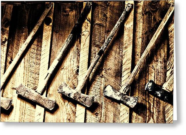 Wood Cutting Tools Greeting Cards - Pick One Greeting Card by Aaron Berg