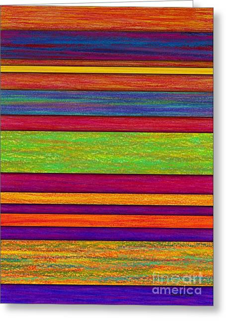 Patch Greeting Cards - Overlay Stripes Greeting Card by David K Small