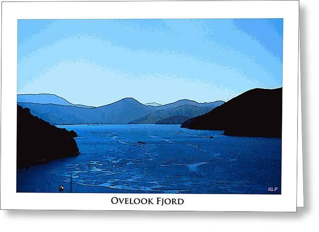 Kiwi Digital Greeting Cards - Overlook Fjord Framed Greeting Card by Robert Pierce