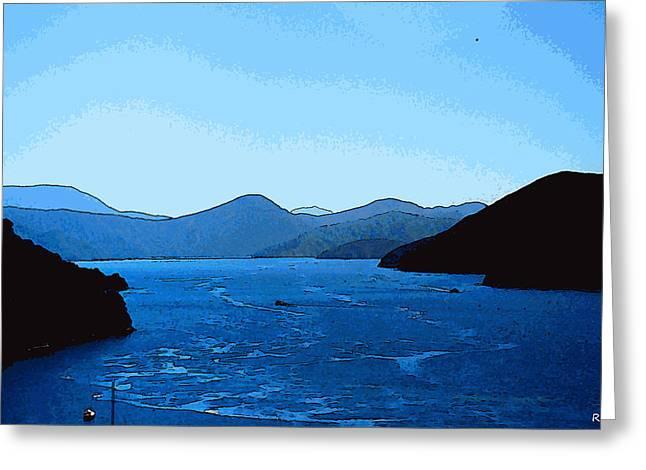 Kiwi Digital Greeting Cards - Overlook Fjord Greeting Card by Robert Pierce