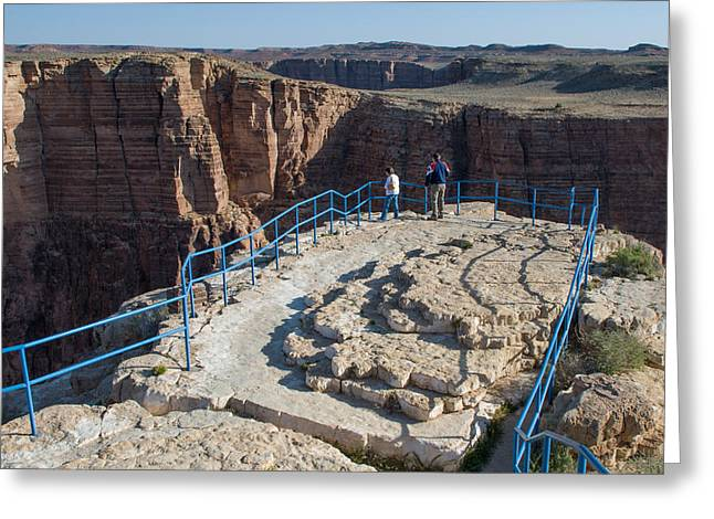 Geobob Greeting Cards - Overlook of the Little Colorado Gorge at the Navajo Tribal Park Arizona Greeting Card by Robert Ford