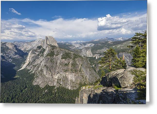 Perfect Storm Greeting Cards - Overlook Scene Greeting Card by Joseph S Giacalone