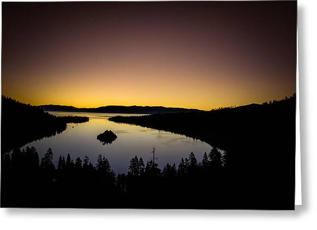 Vista Greeting Cards - Overlooking Emerald Bay at DawnLake Tahoe Greeting Card by Scott McGuire