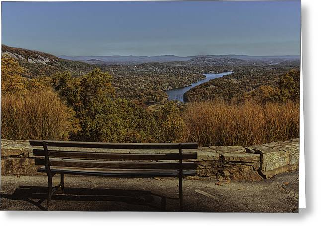 Chimney Rock North Carolina Greeting Cards - Overlooking Lake Lure Greeting Card by Kevin Senter