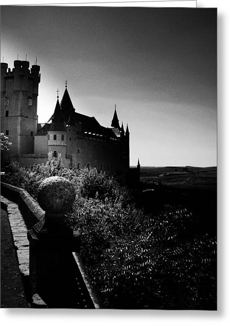 Gothic Romance Greeting Cards - Overlooking The Valley Of Long Ago Greeting Card by Connie Handscomb