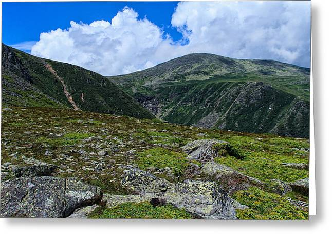 Spur On Greeting Cards - Overlooking Tuckerman Greeting Card by Jeff Sinon