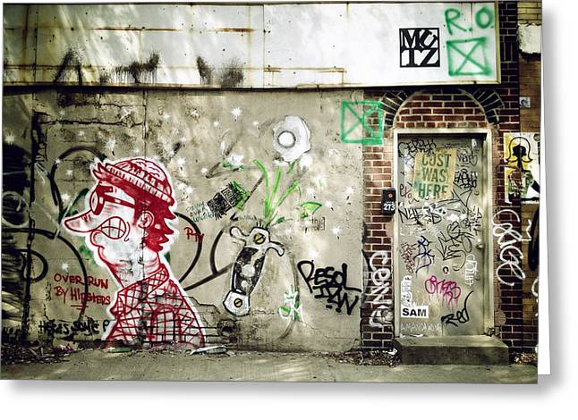 Nyc Graffiti Greeting Cards - Overrun by Hipsters Greeting Card by Natasha Marco