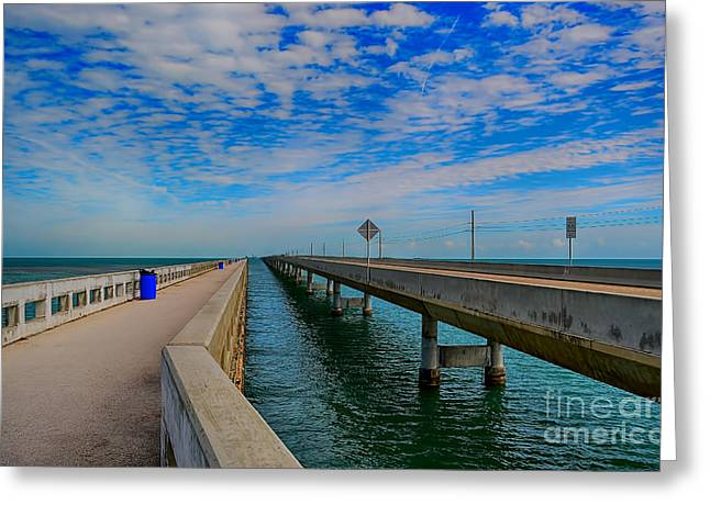 Mile One Greeting Cards - Overseas Highway Florida Keys Greeting Card by Chris Thaxter