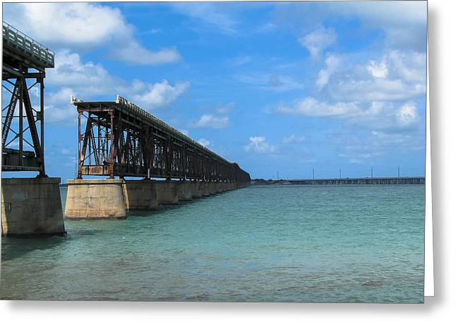 Bahia Honda State Park Greeting Cards - Overseas Railroad Greeting Card by Blind Eye Photo