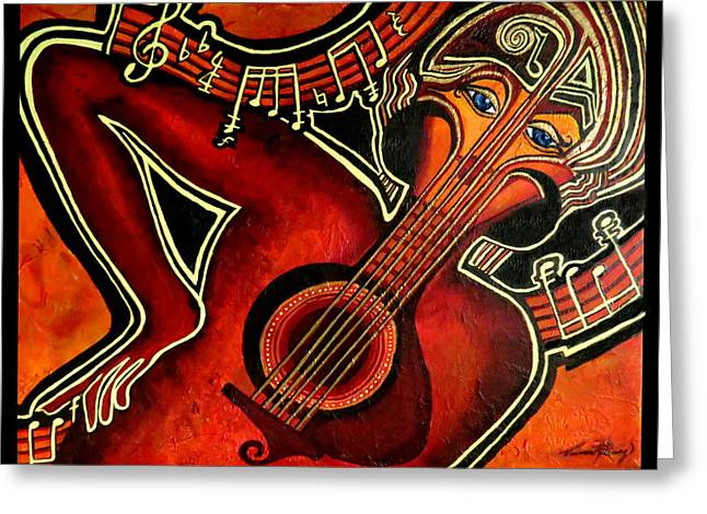 Take Over Greeting Cards - Overtaken By Music Greeting Card by Devora Rotering