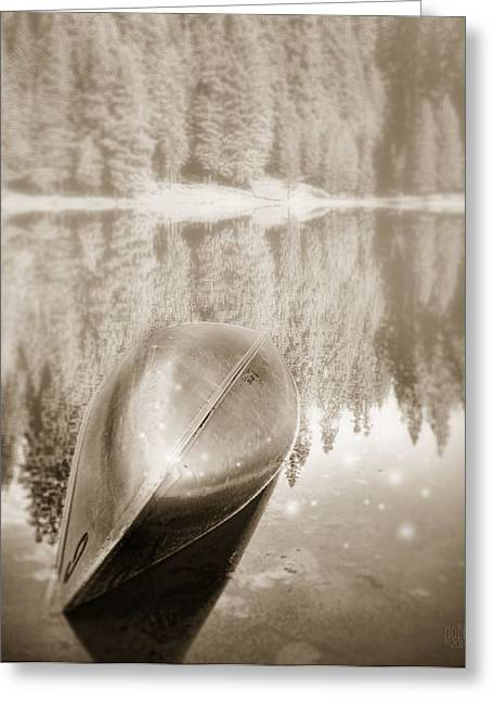 Catherine White Greeting Cards - Overturned Canoe Greeting Card by Catherine Noel