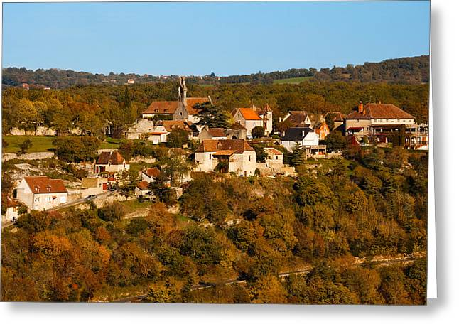 Midi Greeting Cards - Overview Of Lhospitalet Village Greeting Card by Panoramic Images