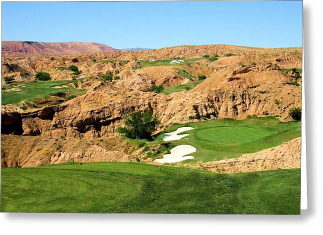 Wolf Creek Greeting Cards - Overview of Wolf Creek Golf Club Greeting Card by Scott Carda