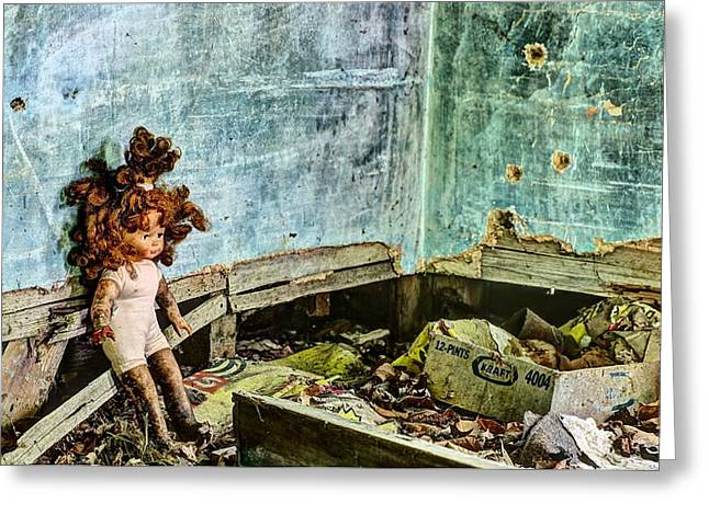 Bullet Holes Greeting Cards - Overwhelmed  Greeting Card by JC Findley