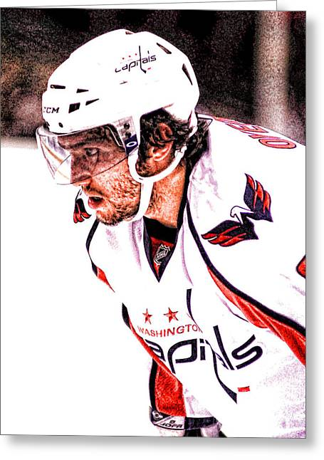 Alex Ovechkin Greeting Cards - Ovi Greeting Card by Jerry Coli