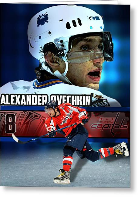 Alex Ovechkin Greeting Cards - Ovi Greeting Card by Yf Jarosova