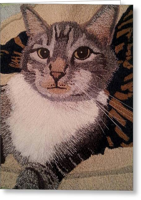 Threads Tapestries - Textiles Greeting Cards - Ovid Greeting Card by Jenny Williams