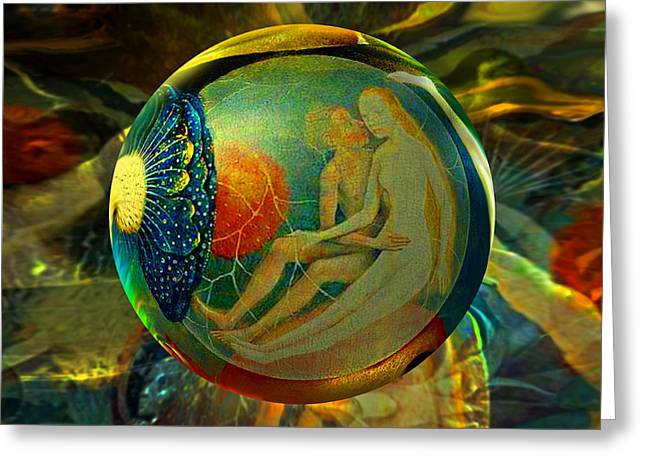 Eve Greeting Cards - Ovule of Eden  Greeting Card by Robin Moline