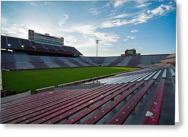 Oklahoma University Greeting Cards - Owen Field  Greeting Card by Nathan Hillis