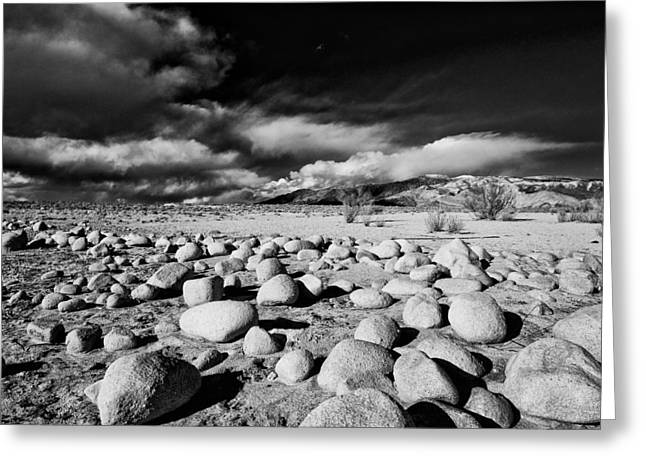 Mountains And Lake Greeting Cards - Owens Dry Lakebed Greeting Card by Cat Connor