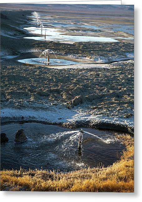 Owens Lake Re-irrigation Greeting Card by Jim West