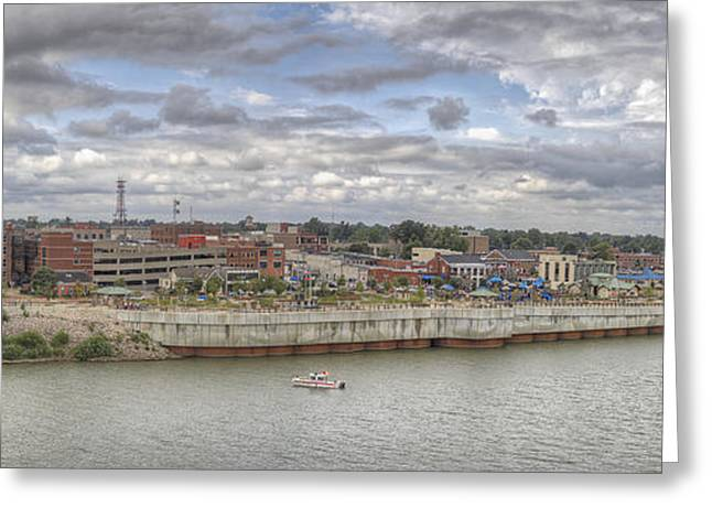 Smothers Park Greeting Cards - Owensboro KY Riverfront Greeting Card by Wendell Thompson
