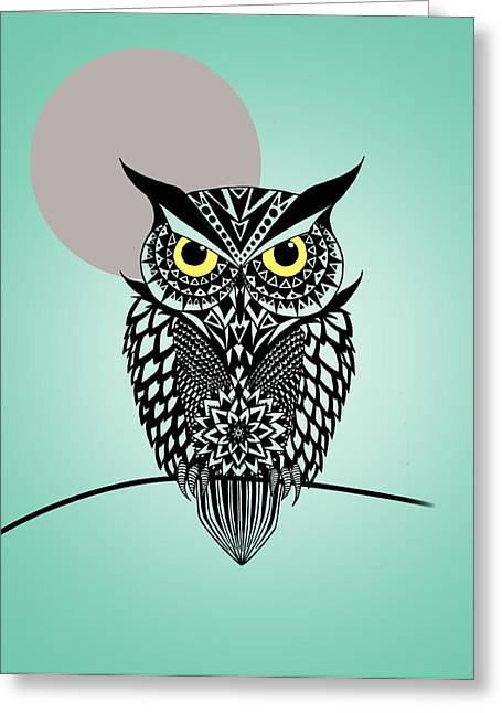 Owl 5 Greeting Card by Mark Ashkenazi
