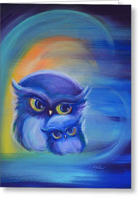 Royal Art Greeting Cards - Owl Be There for You Greeting Card by Agata Lindquist