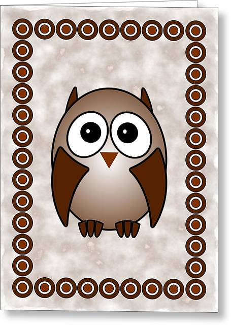 For Kids Greeting Cards - Owl - Birds - Art for Kids Greeting Card by Anastasiya Malakhova