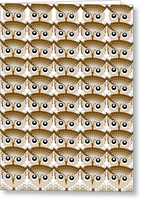 Different Owl Greeting Cards - Owl Eyes Abstract Greeting Card by Emma Smith