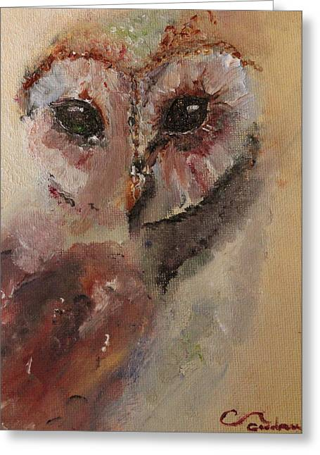 Abstract Owl Greeting Cards - Owl Greeting Card by Genny Goodman