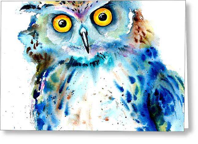 Brush.media Greeting Cards - Owl Greeting Card by Isabel Salvador
