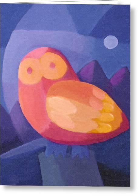Night Owls Greeting Cards - Owl Greeting Card by Lutz Baar