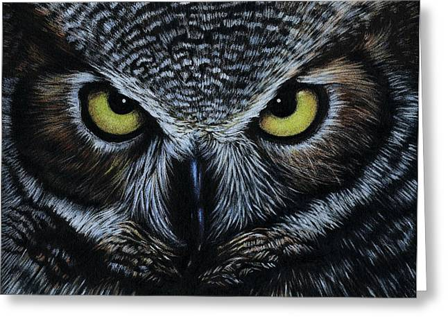 Night Owls Greeting Cards - Owl Greeting Card by Natasha Denger