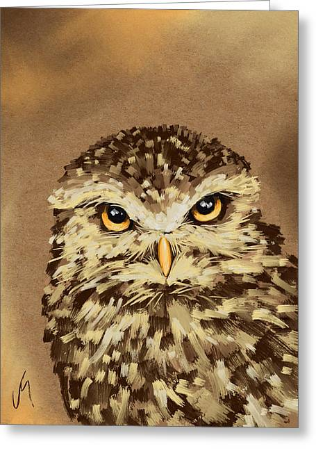 Owl Decor Greeting Cards - Owl Greeting Card by Veronica Minozzi