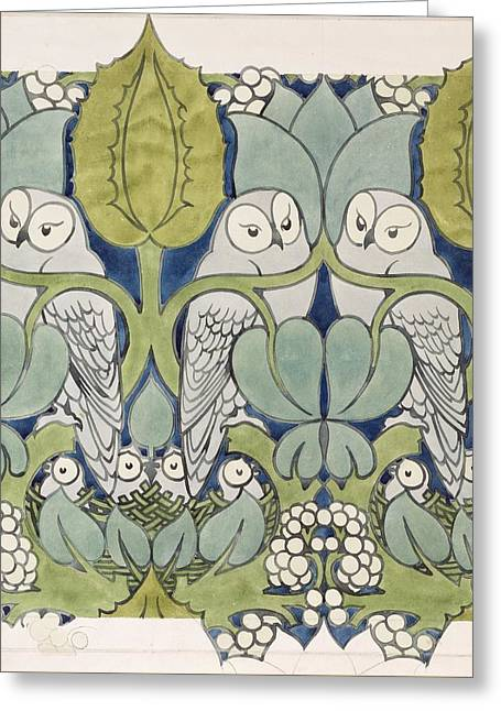 Owls, 1913 Greeting Card by Charles Francis Annesley Voysey