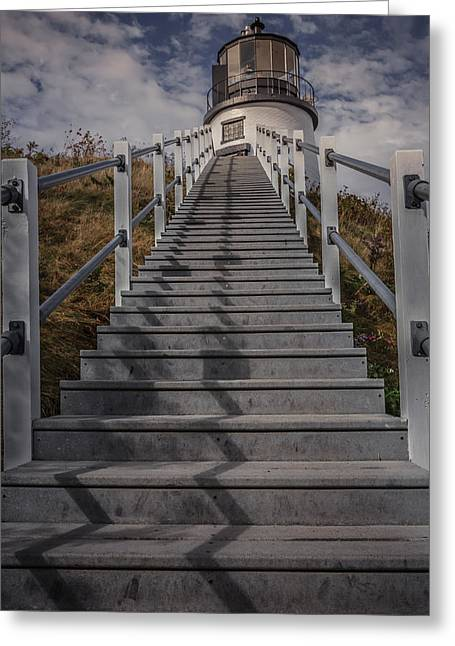 New England Lighthouse Photographs Greeting Cards - Owls head lighthouse Greeting Card by Chris Fletcher