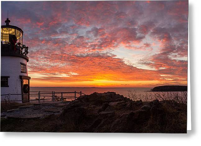 Storm Prints Photographs Greeting Cards - Owls Head Sunrise Greeting Card by Benjamin Williamson